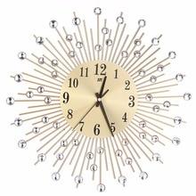Diamond Modern 3D Wall Clock Decor, Metal Black/Gold High Quality