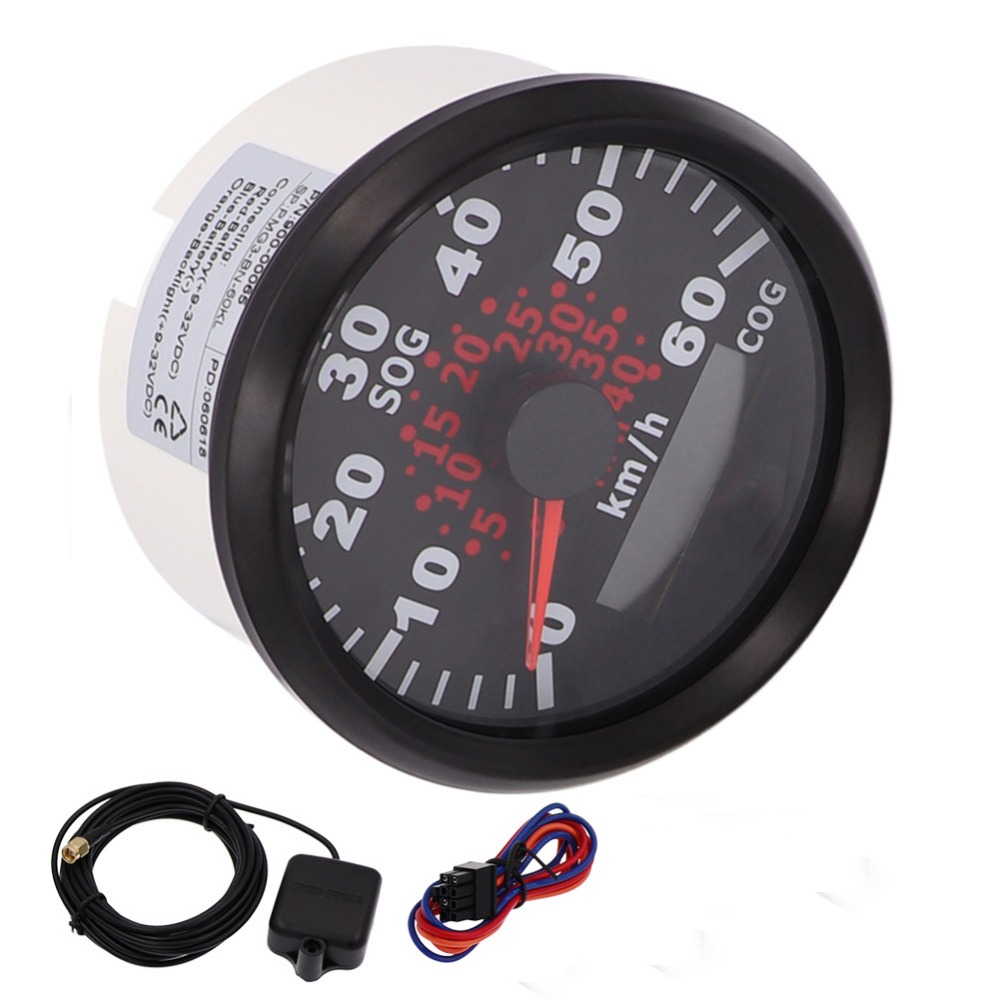 85mm Marine Car GPS Speedometer Odometer Gauge 120km/h 60km/h Speedometer With Backlight fit Universal Marine Boat Car 9~32V 52 mm universal digital gps speedometer odometer fit car boat gps speed sensor with backlight 316 l 9 32v km h adjustable