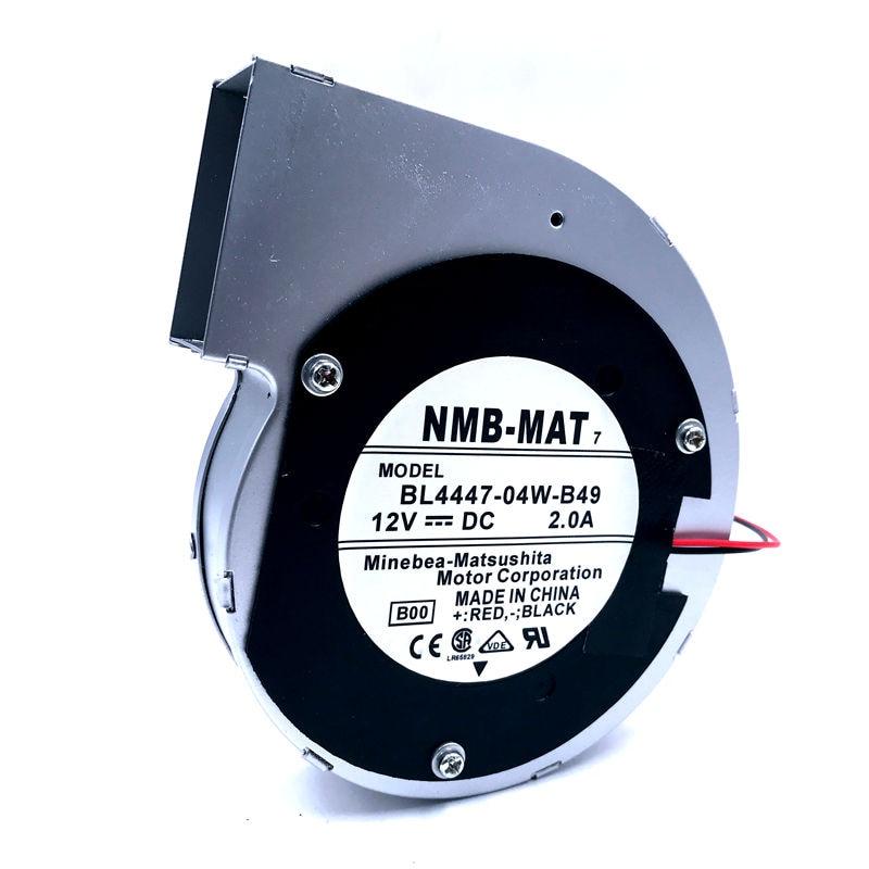 Original For NMB BL4447-04W-B49  11028 12V 2A 2wire Turbine Centrifugal Fan Blower Metal Frame