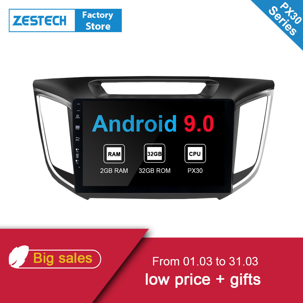 ZESTECH 2019 Android 9.0 2din autoradio dvd pour Hyundai ix 25 Creta voiture vidéo lecteur DVD auto radio GPS Navigation multimédia