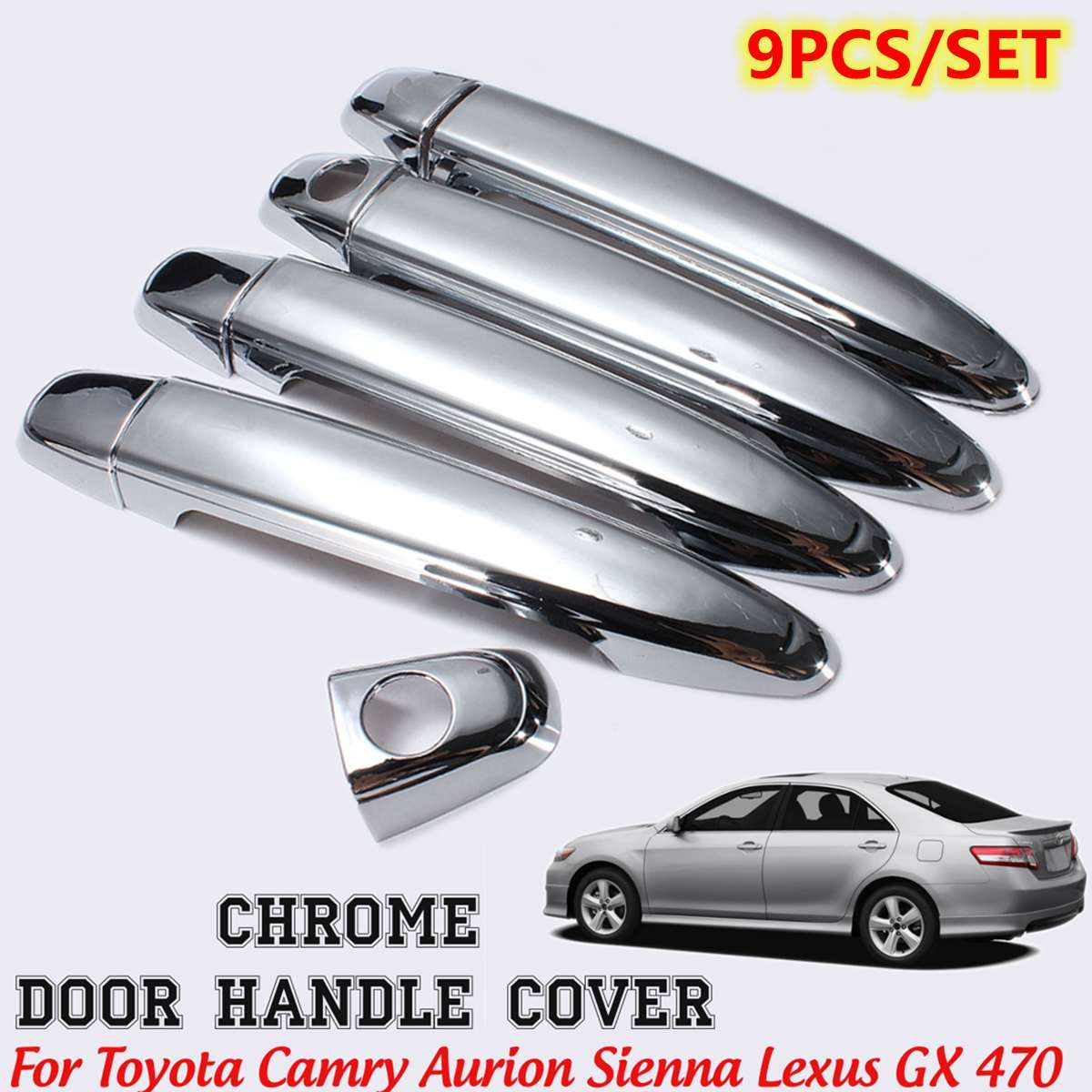For Lexus GX 2004 2005 2006 2007 2008 2009 Chrome 4 Door Handle Covers W Keyhole
