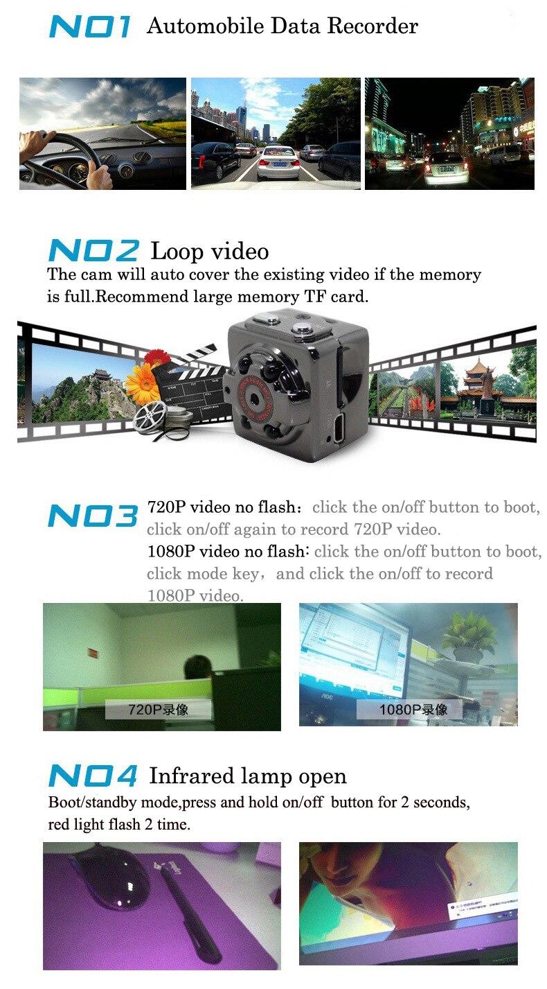 Original SQ8 SQ11 Mini Camera And Video Recorder With Full HD IR Night Vision 4