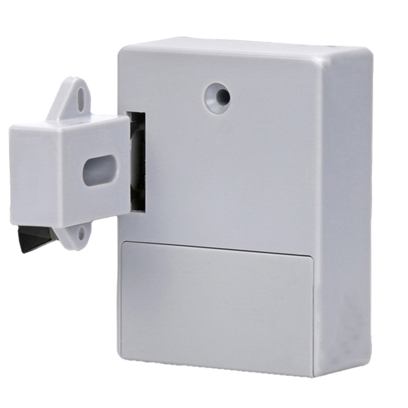 Hole-free Drawer Lock Household Invisible Cabinet Wardrobe Induction Door Lock ABS material Electronic intelligent Locks dc 12v open frame type electronic door lock 12v 2a for cabinet locks solenoid locks drawer