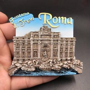 Image 5 - 1Pcs מקרר מגנט מדבקת Creative דובאי ורסאי יוון וינה תיירות מזכרות מקרר מדבקות לעיצוב בית