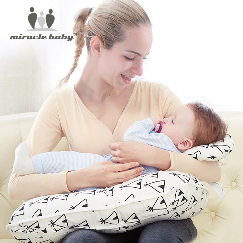 купить Easy Wash Nursing Pillow Newborn Baby Breastfeeding Head Neck Protection Adjustable Boppy Mother Feeding Cradle Infant Pillows по цене 1862.45 рублей