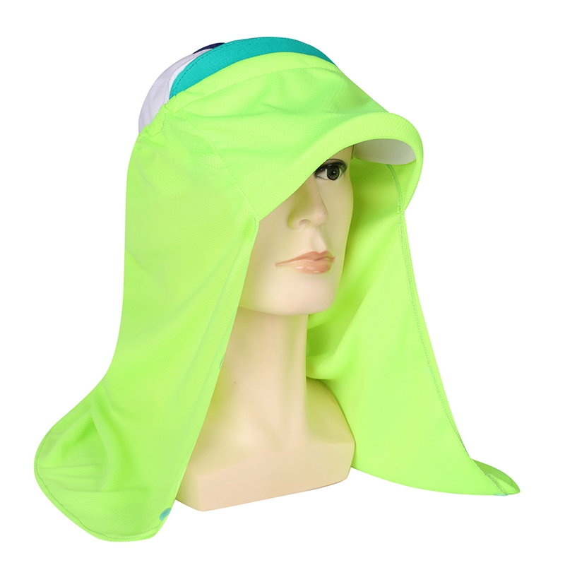 Outdoor Flap Sun tection Hat Patchwork Lightweight Foldable Quick Drying Cap with Ear Neck Cover