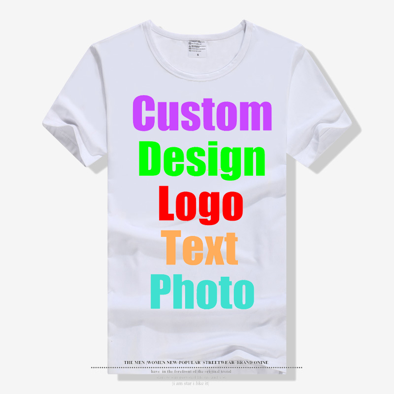 New Fashion Solid <font><b>Blank</b></font> Men Male Unisex Family Custom Logo Photo Text Printing <font><b>T</b></font> <font><b>shirt</b></font> <font><b>White</b></font> Short Sleeve Parent Kid Tees Tops image
