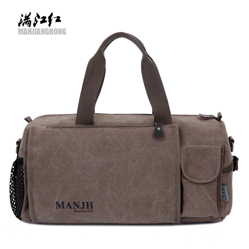Manjianghong fashion canvas crossbody men travel bag vogue Korean style versatile youth high quality male casual tote duffle squirrel fashion large canvas patchwork vogue vintage zipper pattern brand versatile crossbody women travel tote shoulder bags