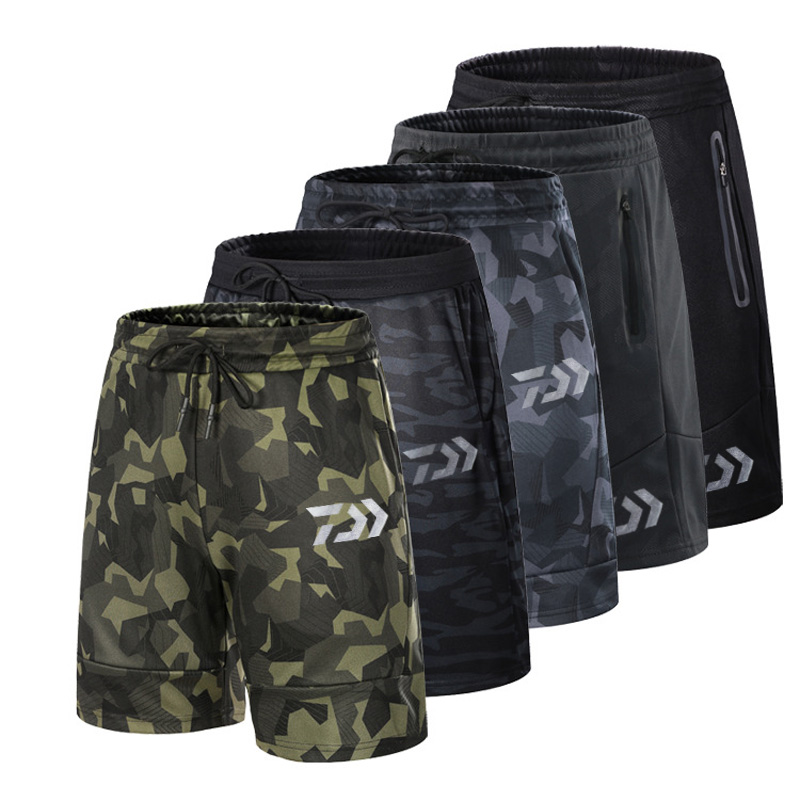 2018 Man Daiwa Fishing Trousers Camouflage Summer Outdoor Short Pants Britches Breathable Fishing Shorts Quick drying Sports