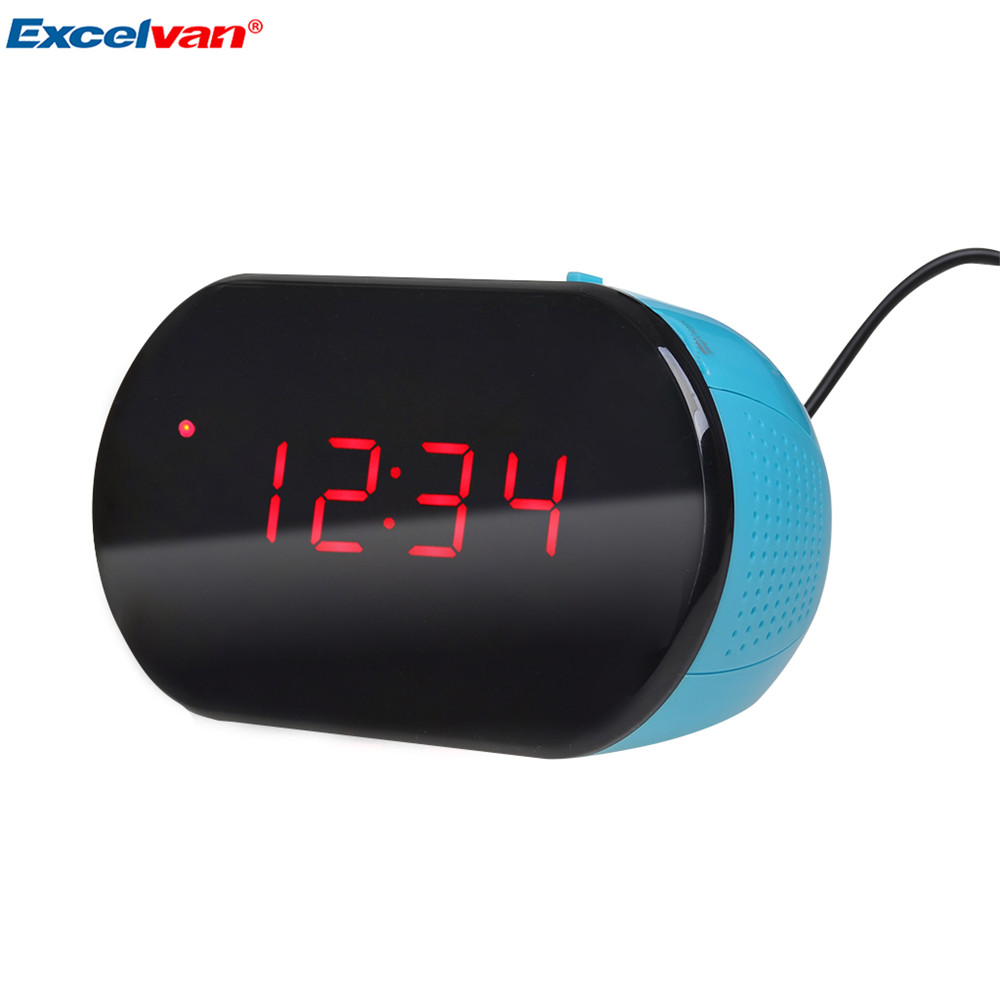 Excelvan Clock LED Easy to read Digital Alarm Clock Radio