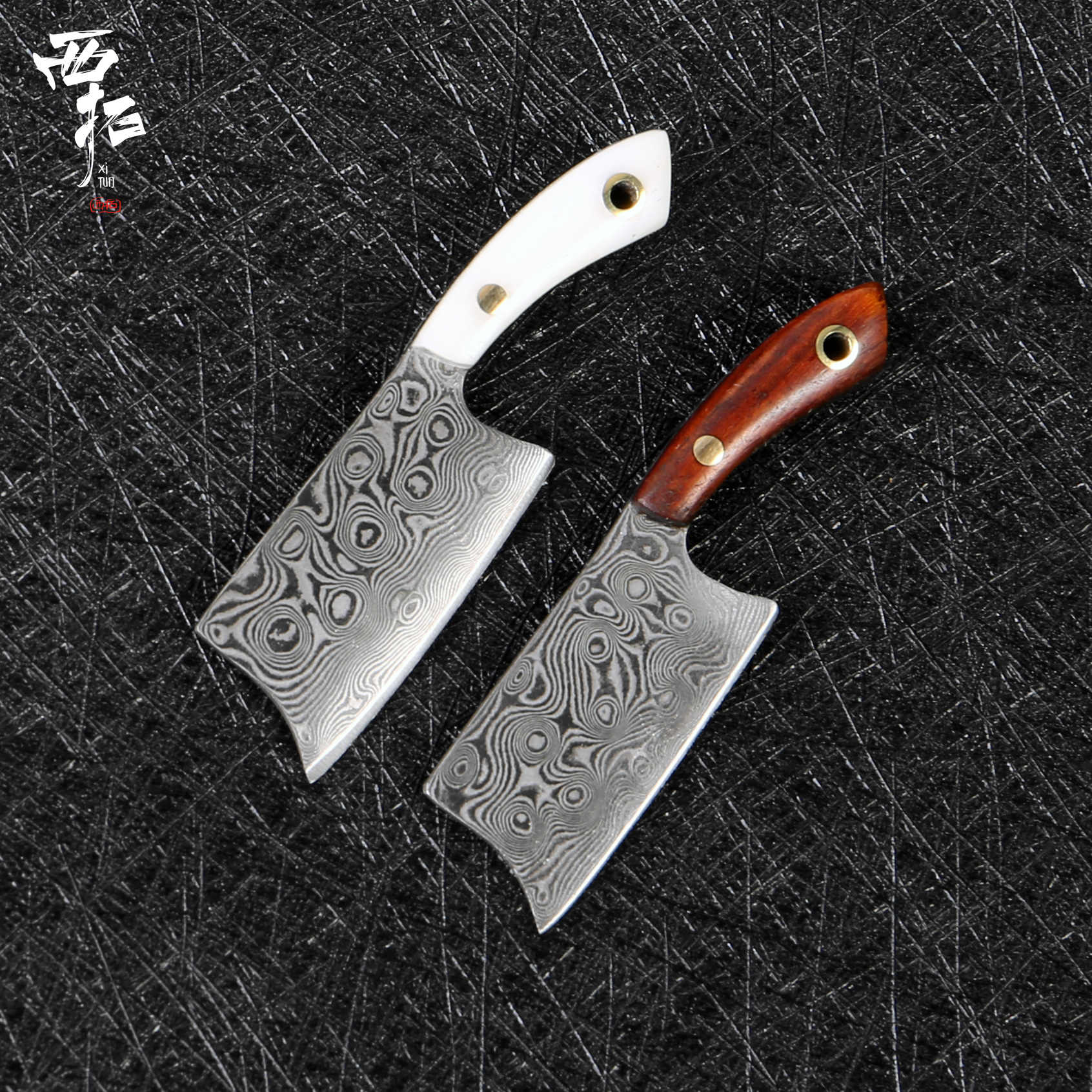 XITUO Mini Knife Damascus Steel Kitchen Chef Knife Paring Knife Outdoor Keychain Collection Boutique Gift Knife Daily Carry Hot