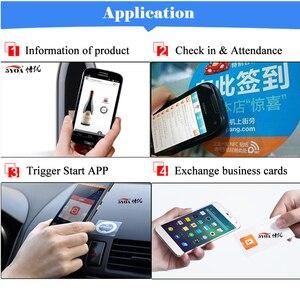 Image 3 - 6 قطعة NFC Ntag213 العلامة ملصق Ntag 213 لهواوي 13.56MHz العالمي تسمية تتفاعل مفتاح رمز دورية خفيفة