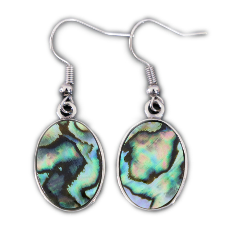 New Fashion Natural Abalone Shell Oval Drop Dangle Earrings 13x18mm Charms Eardrop For Women Lady Wedding Party Gifts Jewelry