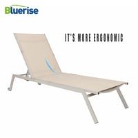 Beach Chaise Folding Couch Sun Lounger European Style Reclining Chair Outdoor Patio Garden Furniture Leisure Chaise BLUERISE