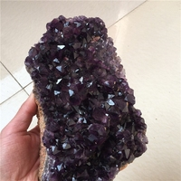 Natural Crystal Stone Amethyst Amethyst Stone Stone Ornaments Were Purple Crystal Druse