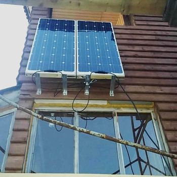 Boguang 2 pcs 100w semi flexible Solar Panel 200W placa solar Photovoltaic monoctrystalline 12v 24V battery/yacht/RV/car/boat RV 5