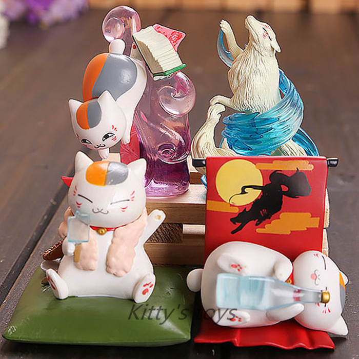 Natsume Yuujinchou Nyanko-Sensei 4 pieces of Action Figure 1/12 scale painted figure Madara Doll PVC ACGN figure Toys Brinquedos new hot 16cm natsume yuujinchou cat nyanko sensei action figure toys collection christmas gift
