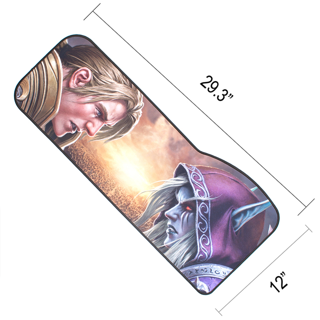 WOW Gaming Mouse Pad Skid-proof & Stitched edges Large keyboard Mice Desk Mat for Office Work PC gaming World of Warcraft 8.0 2
