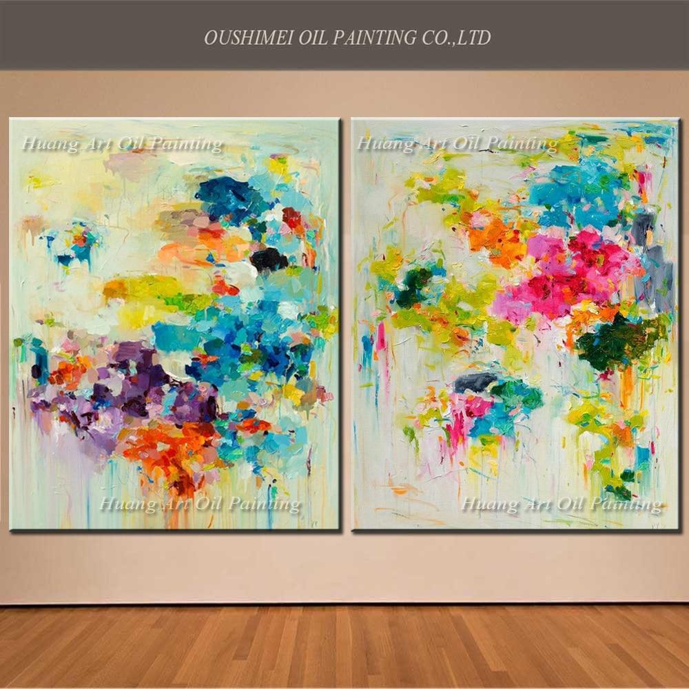 Creatieve muur decor handgeschilderde moderne mes bloem abstract - Huisdecoratie