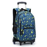 Removable Children School Bags Teenager Boys Girls 3 Wheels Stairs Kids Trolley Schoolbag Luggage Wheeled Backpack