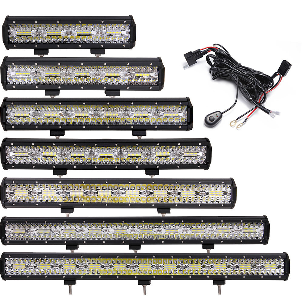 OFFROAD 12 15 18 20 23 28 31 INCH LED WORK LIGHT BAR CAR TRUCK 4X4 4WD ATV WAGON PICKUP TRAILER TRACTOR SUV AWD RZR 12V 24V LAMP offroad 13 16 21 24 29 32 inch led work light bar 12v 24v car truck trailer pickup tractor wagon combo 4x4 4wd atv driving lamp