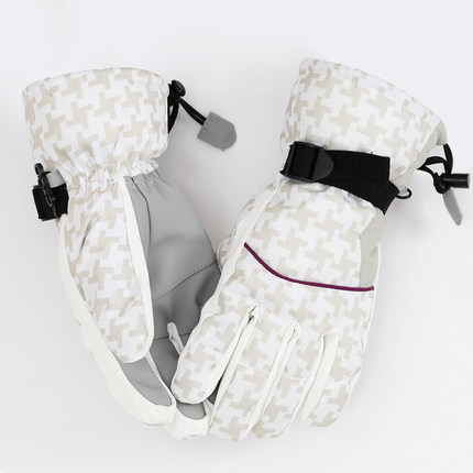 skiing Gloves velvet thicken Gloves Warm Gloves All weather windproof waterproof extended ski Gloves