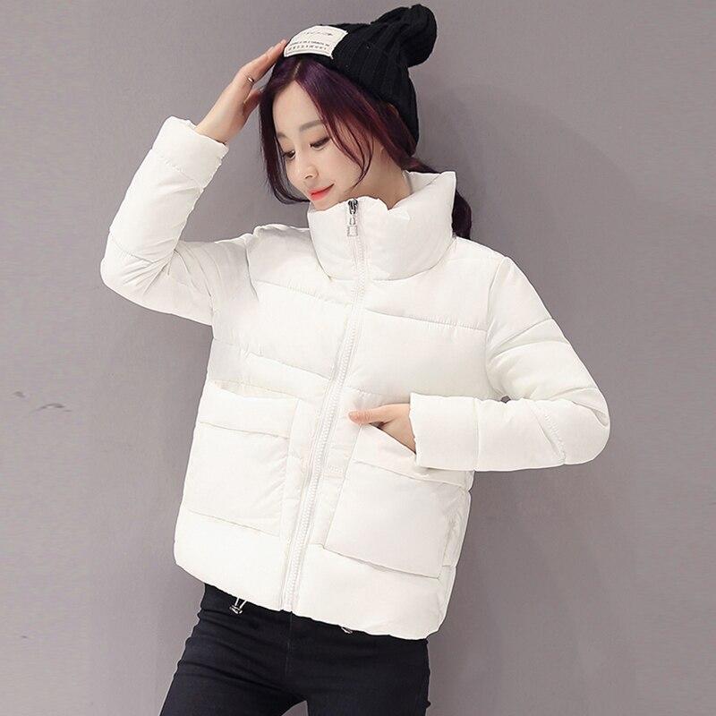 2018 New autumn and winter Jacket   Parka   Women Winter Coat Women's Warm Outwear Cotton-Padded Short Jackets Coat High Quality