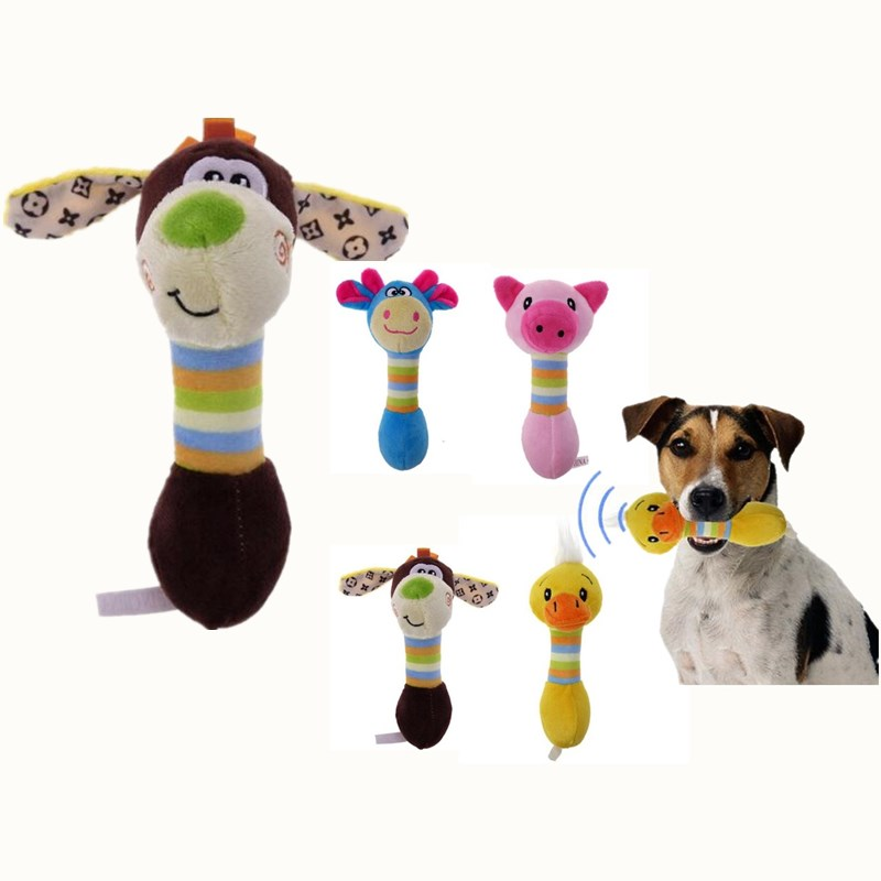 ANSINPARK Pet Dog Chew Toys Plush Dog Toys Cute  Animals Will Dog Cat Puppy Toy Toot Squirrel Dog Chew Squeak P999
