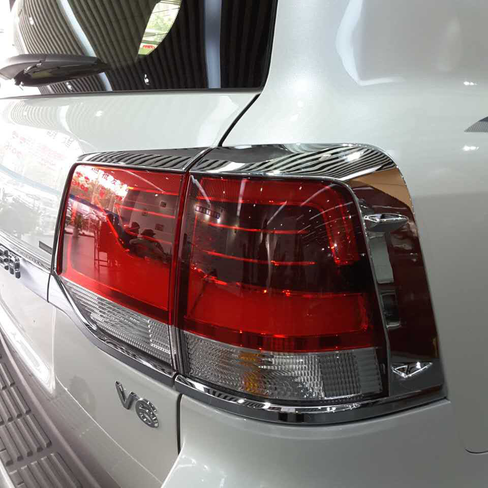 Luhuezu 4PCS Chrome Tail Lamp Styling Cover For Toyota Land Cruiser 200 FJ 200 Accessories 2016