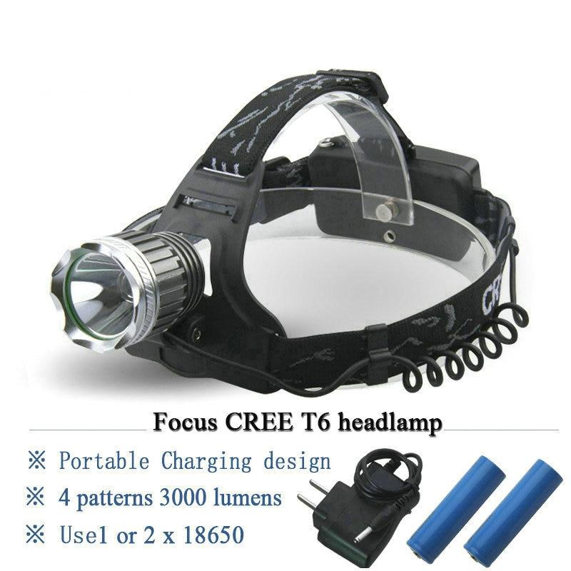 Factory Direct Cree Xml T6 Mining Light Headlamp Rechargeable head lamp Miner Lantern led Head Torch Headlight Flashlight