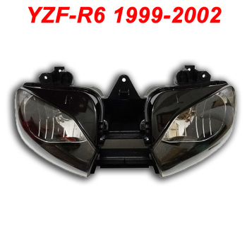 For 99-02 Yamaha YZFR6 YZF R6 YZF-R6 Motorcycle Front Headlight Head Light Lamp Headlamp Assembly CLEAR 1999 2000 2001 2002