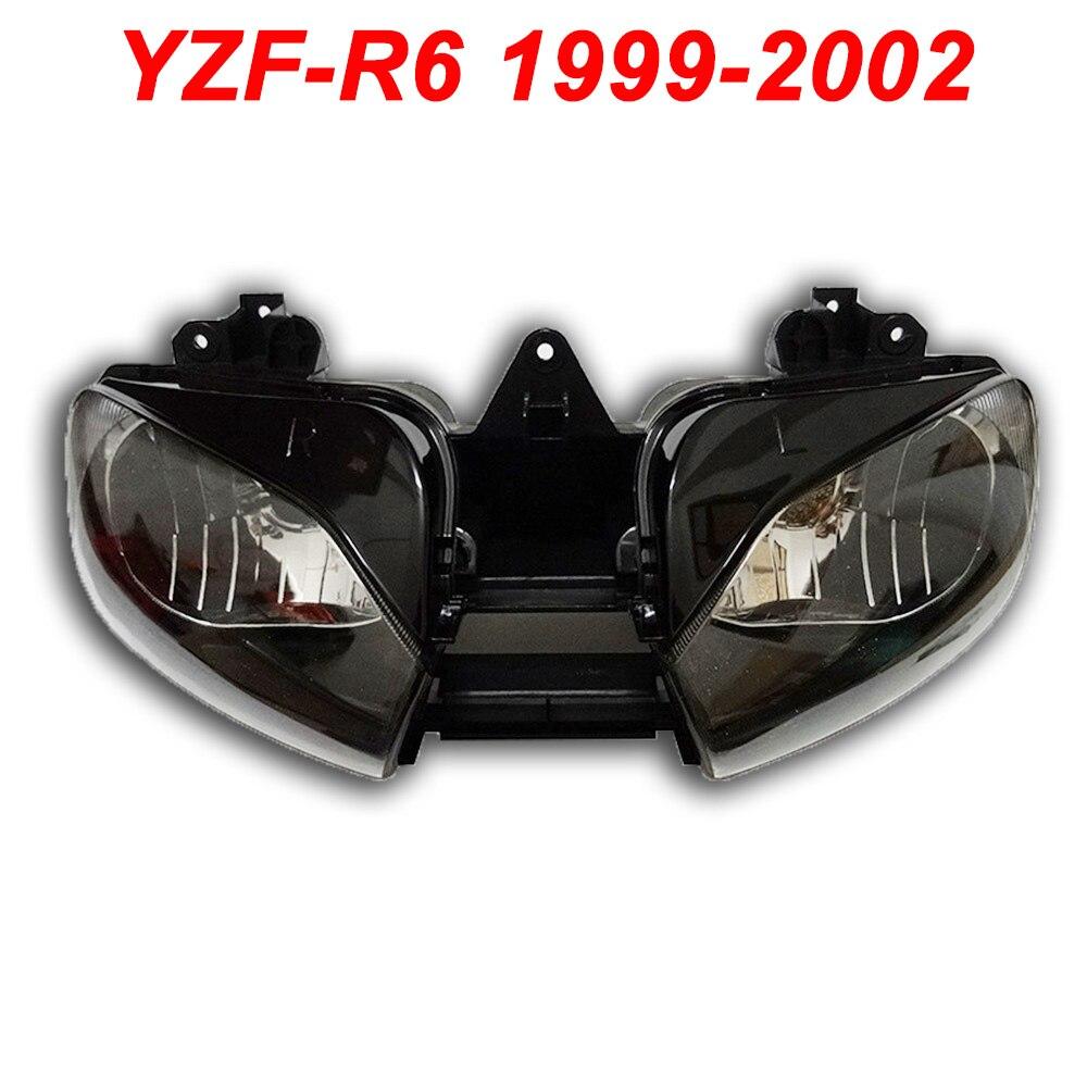 Pour 99-02 Yamaha YZFR6 YZF R6 YZF-R6 Moto Phare Avant Lampe Phare Assemblée EFFACER 1999 2000 2001 2002