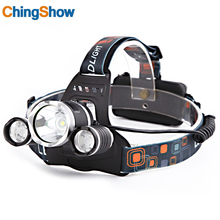 CHINGSHOW LED CREE 3 T6 headlamp 18650 Battery Headlight 12000 Lumens Fishing Light Rechargeable outdoor camping running Bike
