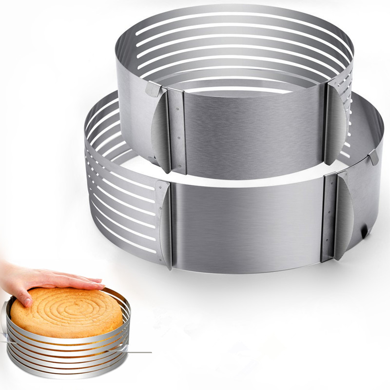 24-30cm Adjustable Cake Cutter Slicer Stainless Steel Bread Cake Slicer Cutter Mold DIY Cake Decorating Tools Baking Accessories