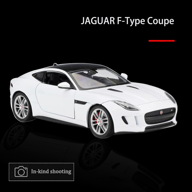 1:24 Sports Car Model JAGUAR F Type Coupe Diecast Alloy Body Simulation  Vehicles