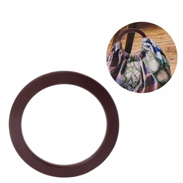 1 PC Wood Round Shaped Handle Replacement for Handbags Women Travel Causal Beach Bags 3
