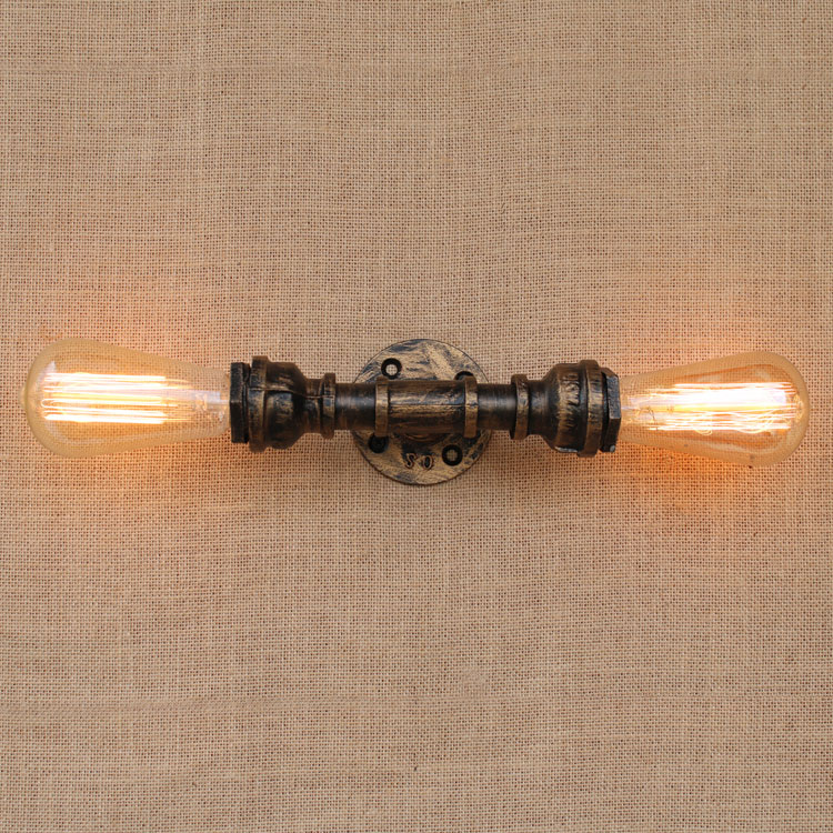 E27*2 Nordic Country Loft Wall Lamps Creative Vintage Wall Sconces RH Bedside Light Fixtures For Home Lighting Cafe Living Room