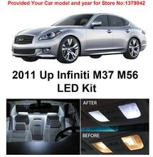 цена на Free Shipping 10Pcs/Lot car-styling Xenon White Package Kit LED Interior Lights For Infiniti M37 M56 2011 & Up
