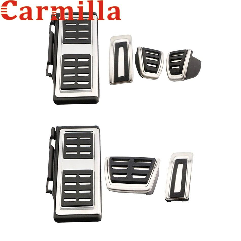 Carmilla carro pedal de combustível freio embreagem pedais capa para volkswagen vw golf 7 gti mk7 para skoda octavia a7 peças acessórios