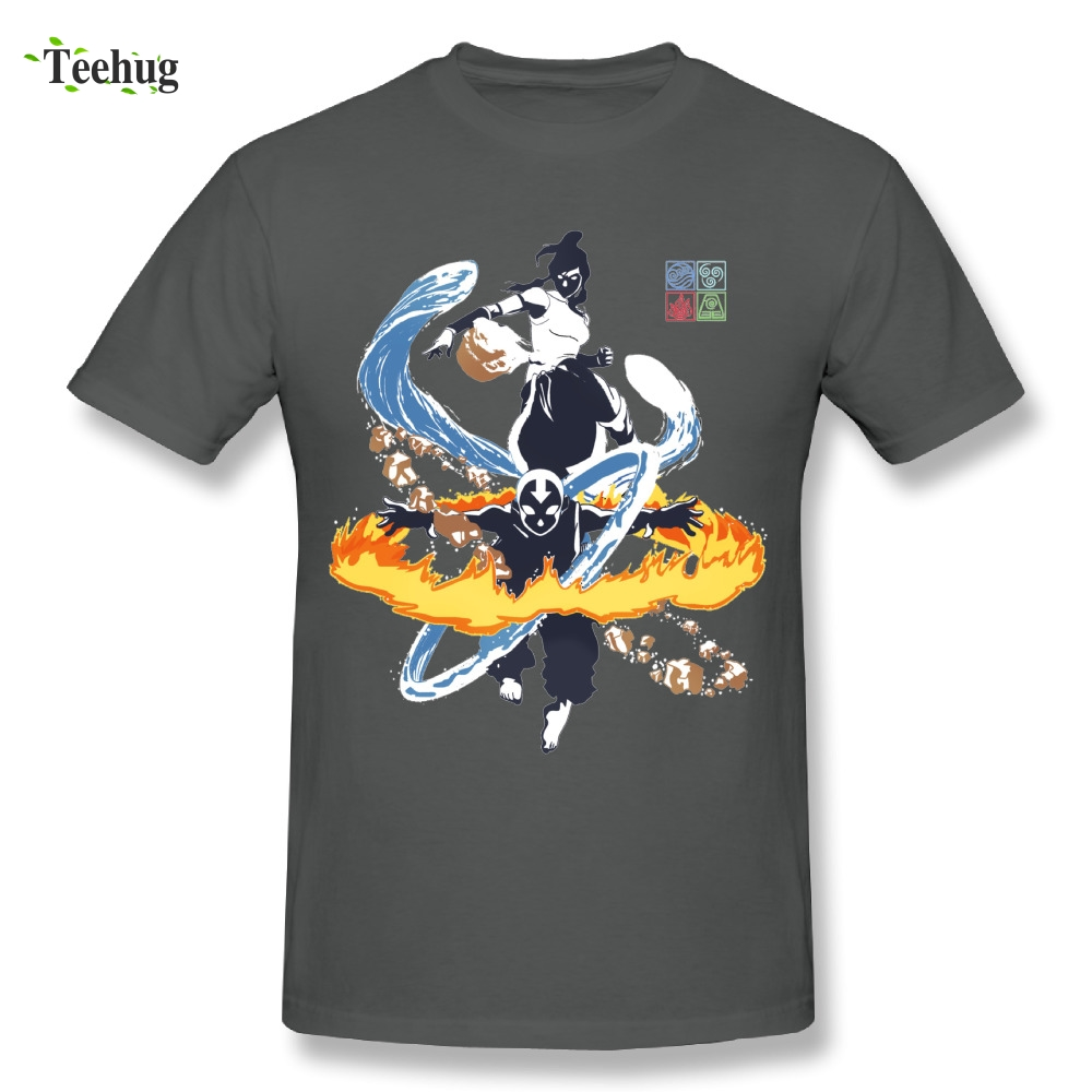 Fashion Men's <font><b>Avatar</b></font> <font><b>Aang</b></font> The Last Airbender and The Legend of Korra T Shirt 100% Cotton Cool Tees Wholesale image