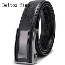 Mens Ratchet Slide Belts Leather Automatic Buckle Luxury for Men Fashion Ceinture Factory Belt Homme