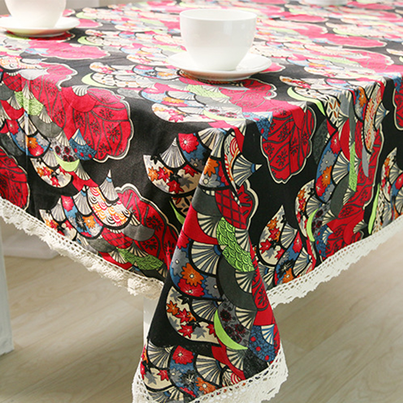 Tablecloth For The Table Covers Ethnic Style Red
