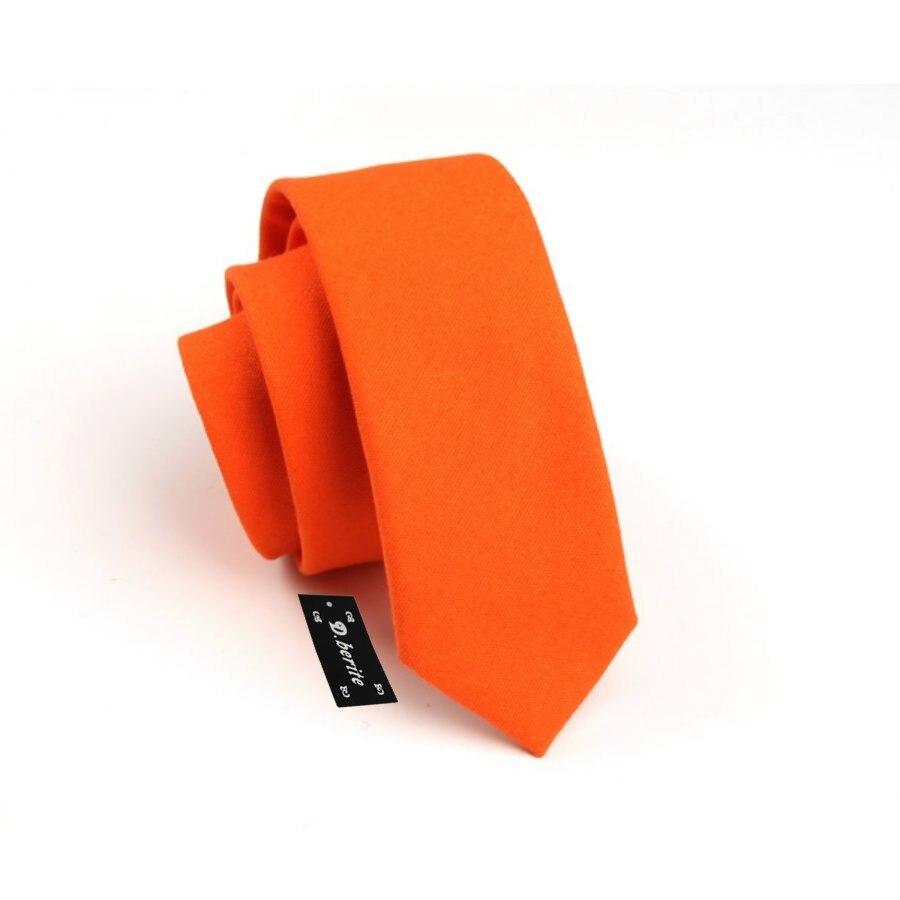 Мужской Хлопковый однотонный оранжевый тонкий узкий галстук мальчишник деловой ГАЛСТУК SK708
