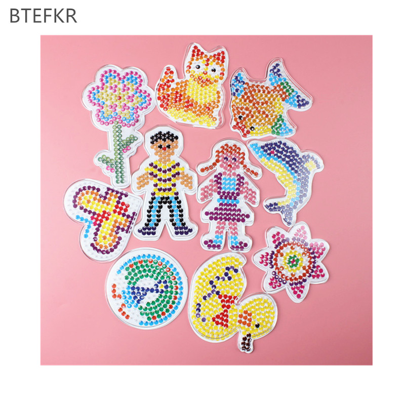 3D Puzzle Pegboards Patterns Templates For Hama Beads Toys 5mm Perler Beads  Educational Toys For Children Handmade Art