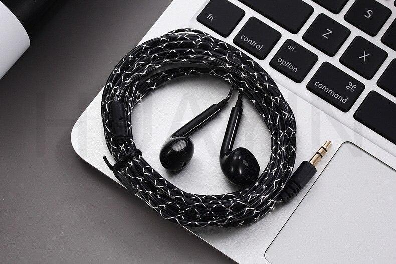 3 Meters Long Line Wired Jack 3.5mm Earphones Computer Headset Crystal Line Headphones 5 Generation Earplugs TV Headset