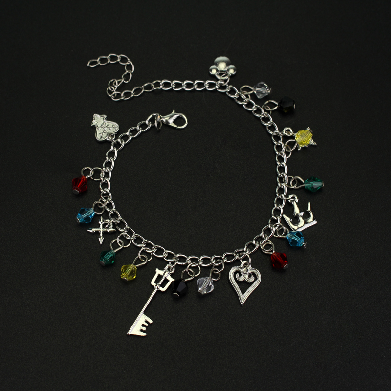 Drop Shipping 1pcs Kingdom Hearts Charm Bracelet