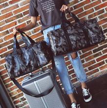 Купить с кэшбэком Brand New Fashion Men Travel Bags Large Capacity Unisex Hand Luggage Casual Camouflage Weekend bag Big Portable Women Duffle Bag