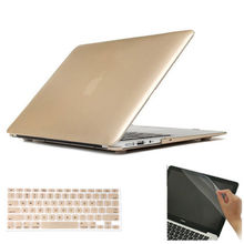 """2015 New 3in1 gold coloration Laborious Case Cowl + Keyboard Pores and skin Cowl +display screen protector For 15″ 15.four""""inch Macbook Air Professional Retina"""