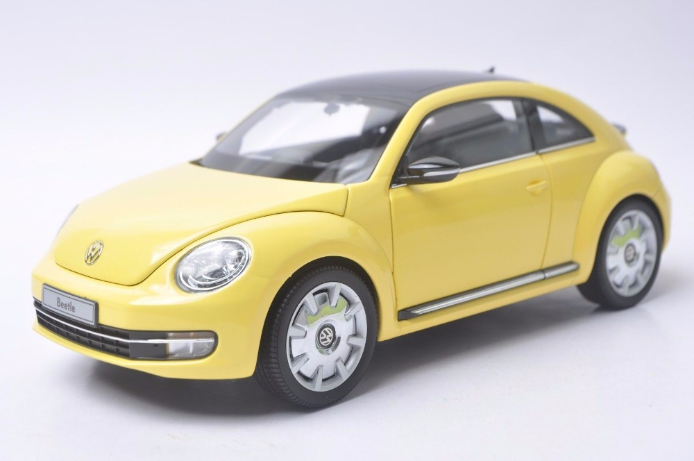 1:18 Diecast Model for Volkswagen VW Beetle Yellow Minicar Alloy Toy Car Miniature Collection Gift 1 18 масштаб vw volkswagen новый tiguan l 2017 оранжевый diecast модель автомобиля