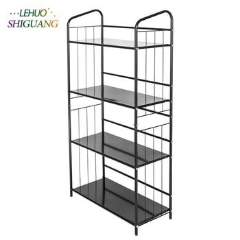 4 capa de Metal libro estante y estante de almacenamiento Sala ...